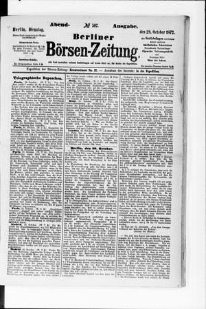 Berliner Börsen-Zeitung vom 29.10.1872