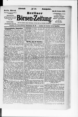 Berliner Börsen-Zeitung vom 30.10.1872