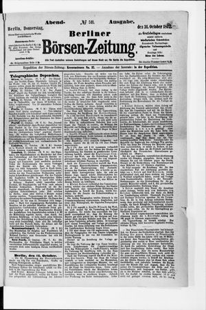 Berliner Börsen-Zeitung vom 31.10.1872