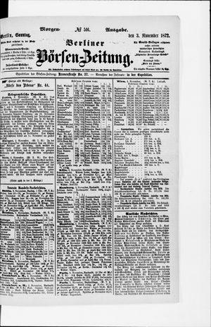 Berliner Börsen-Zeitung vom 03.11.1872