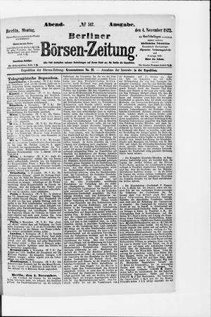 Berliner Börsen-Zeitung vom 04.11.1872