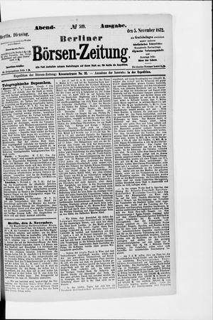Berliner Börsen-Zeitung vom 05.11.1872