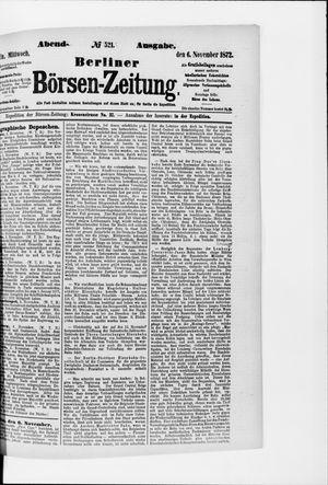 Berliner Börsen-Zeitung vom 06.11.1872