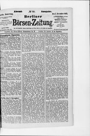 Berliner Börsen-Zeitung vom 07.11.1872