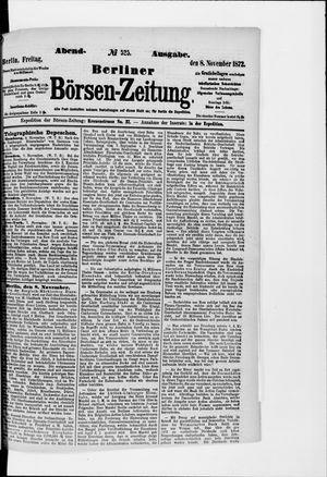 Berliner Börsen-Zeitung vom 08.11.1872