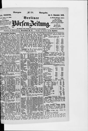 Berliner Börsen-Zeitung vom 09.11.1872
