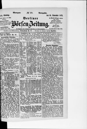 Berliner Börsen-Zeitung vom 10.11.1872