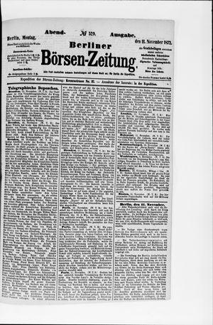 Berliner Börsen-Zeitung vom 11.11.1872