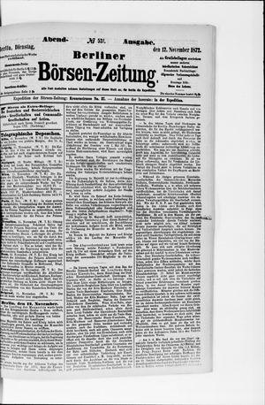 Berliner Börsen-Zeitung vom 12.11.1872