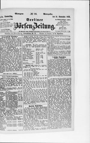 Berliner Börsen-Zeitung vom 14.11.1872