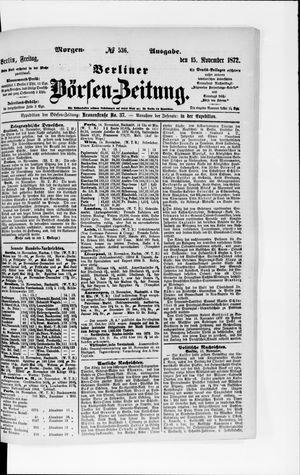Berliner Börsen-Zeitung on Nov 15, 1872