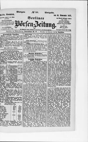 Berliner Börsen-Zeitung vom 16.11.1872