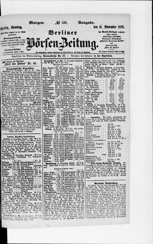 Berliner Börsen-Zeitung vom 17.11.1872