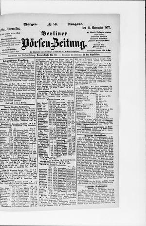 Berliner Börsen-Zeitung vom 21.11.1872
