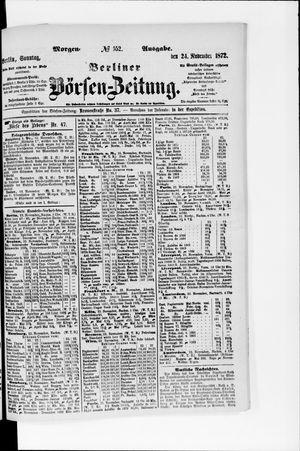 Berliner Börsen-Zeitung vom 24.11.1872