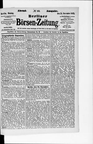 Berliner Börsen-Zeitung vom 25.11.1872