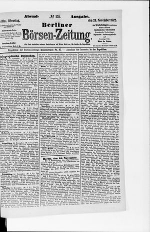 Berliner Börsen-Zeitung vom 26.11.1872