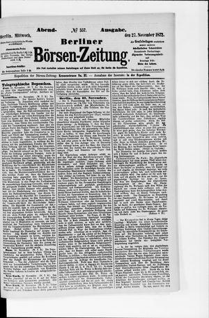 Berliner Börsen-Zeitung vom 27.11.1872