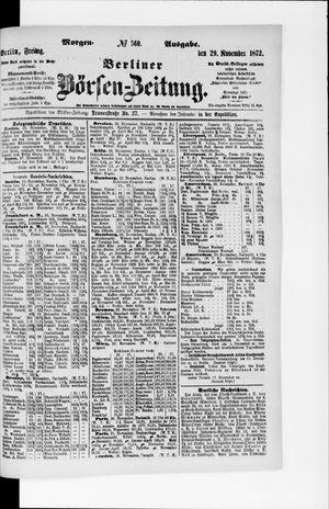 Berliner Börsen-Zeitung vom 29.11.1872