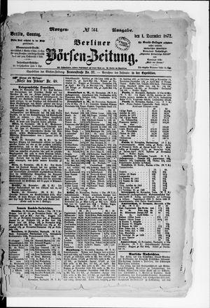 Berliner Börsen-Zeitung vom 01.12.1872