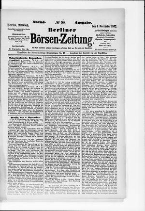 Berliner Börsen-Zeitung vom 04.12.1872
