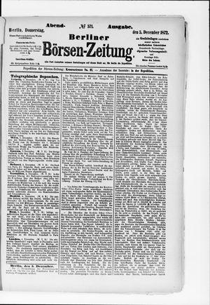 Berliner Börsen-Zeitung vom 05.12.1872