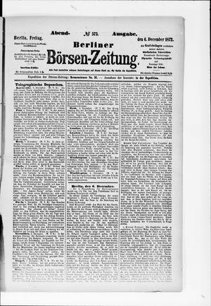 Berliner Börsen-Zeitung vom 06.12.1872