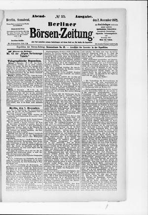 Berliner Börsen-Zeitung vom 07.12.1872