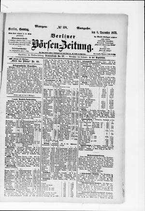 Berliner Börsen-Zeitung vom 08.12.1872
