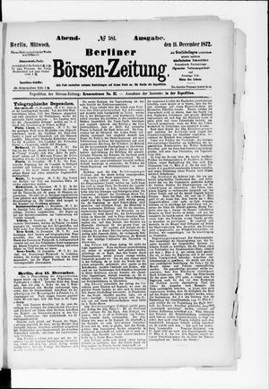 Berliner Börsen-Zeitung vom 11.12.1872