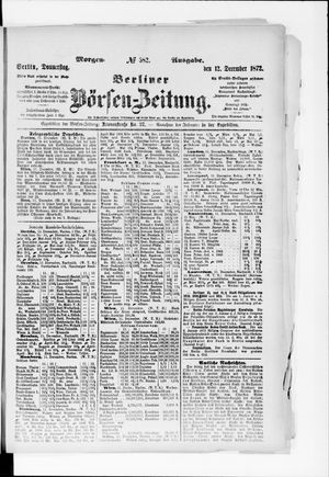 Berliner Börsen-Zeitung vom 12.12.1872