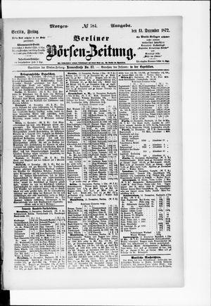 Berliner Börsen-Zeitung vom 13.12.1872