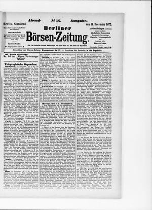 Berliner Börsen-Zeitung vom 14.12.1872