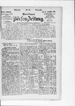 Berliner Börsen-Zeitung vom 15.12.1872