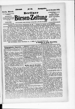 Berliner Börsen-Zeitung vom 18.12.1872