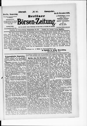 Berliner Börsen-Zeitung vom 19.12.1872