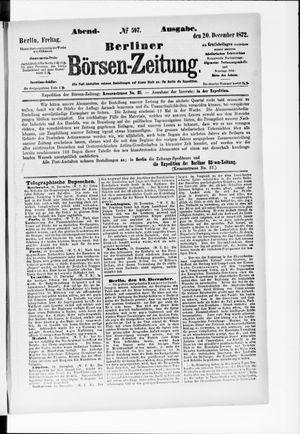 Berliner Börsen-Zeitung vom 20.12.1872