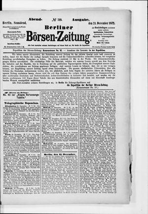 Berliner Börsen-Zeitung vom 21.12.1872