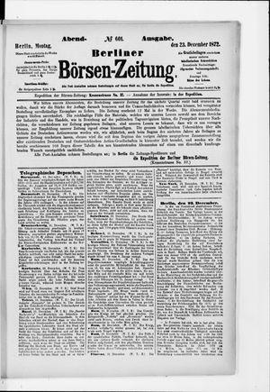 Berliner Börsen-Zeitung vom 23.12.1872