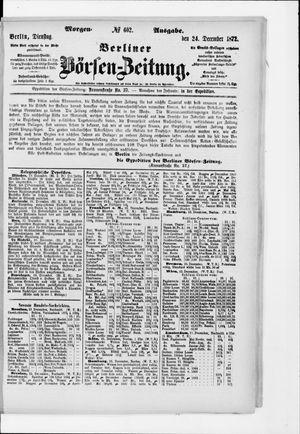 Berliner Börsen-Zeitung vom 24.12.1872