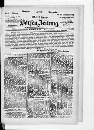 Berliner Börsen-Zeitung vom 25.12.1872