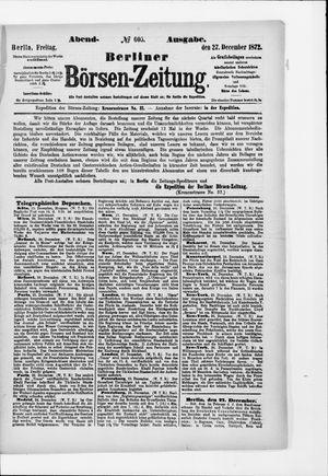 Berliner Börsen-Zeitung vom 27.12.1872