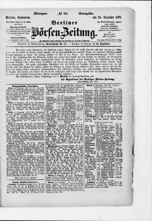 Berliner Börsen-Zeitung vom 28.12.1872