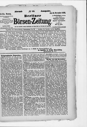 Berliner Börsen-Zeitung vom 30.12.1872