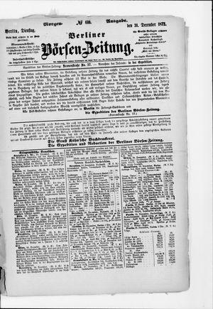 Berliner Börsen-Zeitung vom 31.12.1872
