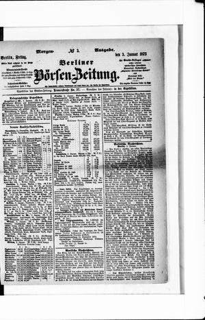 Berliner Börsen-Zeitung vom 03.01.1873