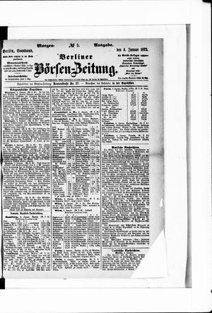 Berliner Börsen-Zeitung vom 04.01.1873