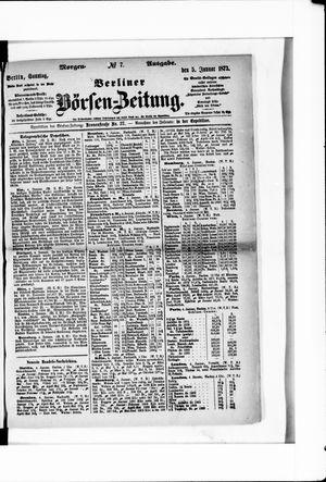 Berliner Börsen-Zeitung vom 05.01.1873