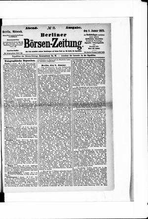 Berliner Börsen-Zeitung vom 08.01.1873