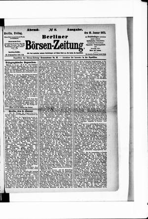 Berliner Börsen-Zeitung vom 10.01.1873